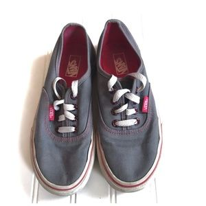 Vans grey and pink kids shoes